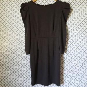 BB Dakota Gray Long Sleeve puffy shoulder Dress